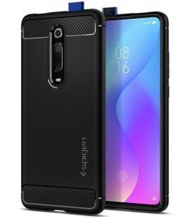 "Juodas dėklas Xiaomi Mi 9T telefonui ""Spigen Rugged Armor"""