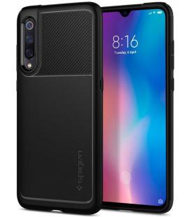 "Juodas dėklas Xiaomi Mi 9 telefonui ""Spigen Rugged Armor"""