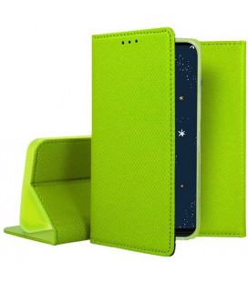 """Žalias atverčiamas dėklas Huawei P30 Lite telefonui """"Smart Book Magnet"""""""