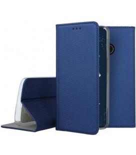 """Mėlynas atverčiamas dėklas Huawei P30 Lite telefonui """"Smart Book Magnet"""""""