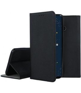 """Juodas atverčiamas dėklas Huawei P30 Lite telefonui """"Smart Book Magnet"""""""