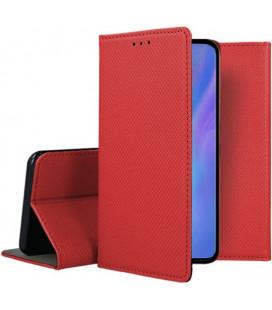 """Raudonas atverčiamas dėklas Huawei P30 Pro telefonui """"Smart Book Magnet"""""""