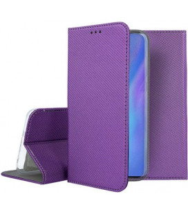 """Violetinis atverčiamas dėklas Huawei P30 Pro telefonui """"Smart Book Magnet"""""""