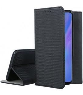 """Juodas atverčiamas dėklas Huawei P30 Pro telefonui """"Smart Book Magnet"""""""