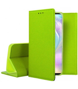"""Žalias atverčiamas dėklas Huawei P30 telefonui """"Smart Book Magnet"""""""