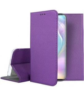 """Violetinis atverčiamas dėklas Huawei P30 telefonui """"Smart Book Magnet"""""""