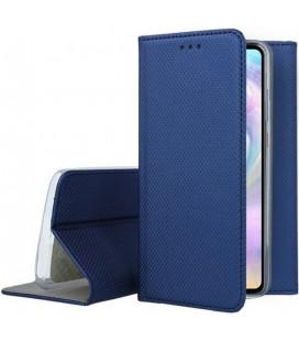 """Mėlynas atverčiamas dėklas Huawei P30 telefonui """"Smart Book Magnet"""""""
