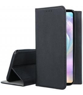 """Juodas atverčiamas dėklas Huawei P30 telefonui """"Smart Book Magnet"""""""
