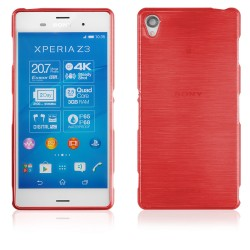 """Raudonas silikoninis dėklas Sony Xperia Z3 telefonui """"Jelly Metallic"""""""