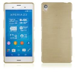 """Auksinės spalvos silikoninis dėklas Sony Xperia Z3 telefonui """"Jelly Metallic"""""""