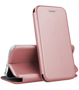 "Dėklas ""Book Elegance"" Samsung A202 A20e rožinis-auksinis"