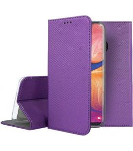 """Violetinis atverčiamas dėklas Samsung Galaxy A20E telefonui """"Smart Book Magnet"""""""