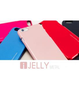 """Rausvai auksinės spalvos silikoninis dėklas Samsung Galaxy A70 telefonui """"Mercury iJelly Case Metal"""""""