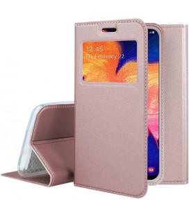 """Dėklas """"Smart Look"""" Samsung A105 A10 rožinis-auksinis"""