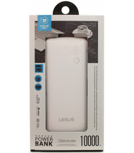 Išorinė baterija POWER BANK Leslie LP005 10000mAh balta