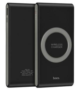Išorinė baterija POWER BANK HOCO B32 8000mAh su belaidžiu įkrovikliu juoda