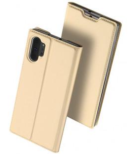 """Auksinės spalvos atverčiamas dėklas Samsung Galaxy Note 10 Plus telefonui """"Dux Ducis Skin"""""""