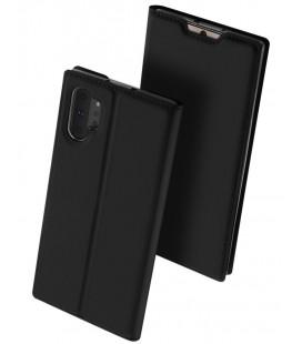 """Juodas atverčiamas dėklas Samsung Galaxy Note 10 Plus telefonui """"Dux Ducis Skin"""""""