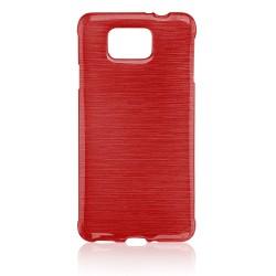 """Raudonas silikoninis dėklas Samsung Galaxy Alpha telefonui """"Jelly Metallic"""""""
