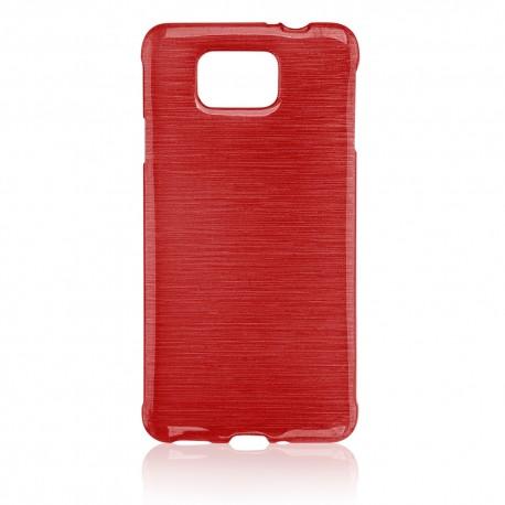"""Raudonas silikoninis dėklas Samsung Galaxy Alpha G850 telefonui """"Jelly Metallic"""""""