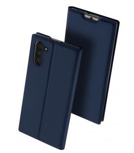"""Mėlynas atverčiamas dėklas Samsung Galaxy Note 10 telefonui """"Dux Ducis Skin"""""""