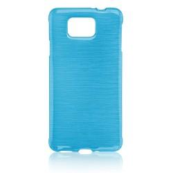 """Mėlynas silikoninis dėklas Samsung Galaxy Alpha G850 telefonui """"Jelly Metallic"""""""