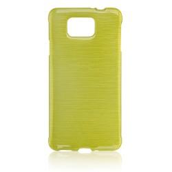 """Žalias silikoninis dėklas Samsung Galaxy Alpha G850 telefonui """"Jelly Metallic"""""""