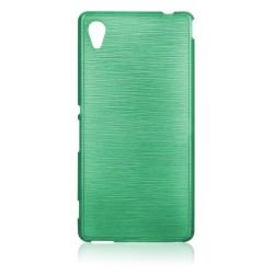 """Žalias silikoninis dėklas Sony Xperia M4 Aqua telefonui """"Jelly Metallic"""""""