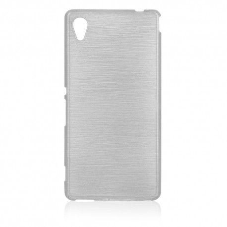 "Baltas silikoninis dėklas Sony Xperia M4 Aqua telefonui ""Jelly Metallic"""