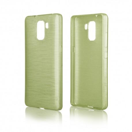 """Žalias silikoninis dėklas Huawei Honor 7 telefonui """"Jelly Metallic"""""""