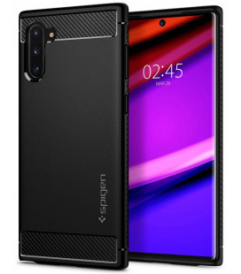 """Matinis juodas dėklas Samsung Galaxy Note 10 telefonui """"Spigen Rugged Armor"""""""