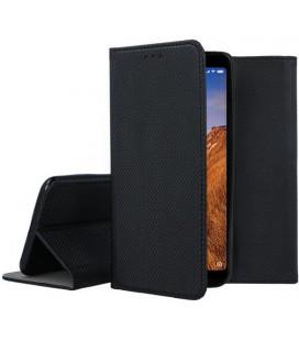 """Juodas atverčiamas dėklas Xiaomi Redmi 7A telefonui """"Smart Book Magnet"""""""