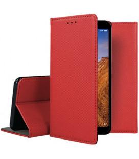 """Raudonas atverčiamas dėklas Xiaomi Redmi 7A telefonui """"Smart Book Magnet"""""""