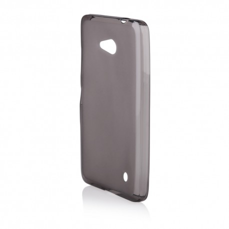 """Juodas silikoninis dėklas Microsoft Lumia 640 telefonui """"Frosted"""""""
