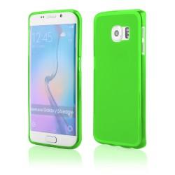 """Žalias silikoninis dėklas Samsung Galaxy S6 Edge G925 telefonui """"Frosted"""""""
