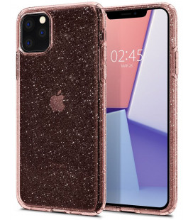 "Rožinis dėklas su blizgučiais Apple iPhone 11 Pro Max telefonui ""Spigen Liquid Crystal Glitter"""