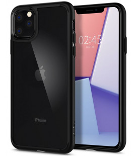 "Matinis juodas dėklas Apple iPhone 11 Pro Max telefonui ""Spigen Ultra Hybrid"""