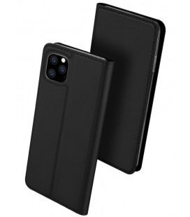 """Juodas atverčiamas dėklas Apple iPhone 11 Pro telefonui """"Dux Ducis Skin Pro"""""""