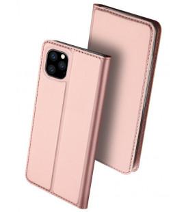 """Rausvai auksinės spalvos atverčiamas dėklas Apple iPhone 11 Pro Max telefonui """"Dux Ducis Skin Pro"""""""