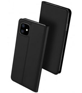 """Juodas atverčiamas dėklas Apple iPhone 11 telefonui """"Dux Ducis Skin Pro"""""""