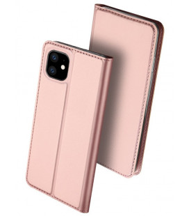 """Rausvai auksinės spalvos atverčiamas dėklas Apple iPhone 11 telefonui """"Dux Ducis Skin Pro"""""""