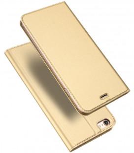 """Auksinės spalvos atverčiamas dėklas Apple iPhone 6/6S telefonui """"Dux Ducis Skin Pro"""""""