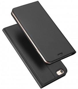 """Juodas atverčiamas dėklas Apple iPhone 6 Plus / 6S Plus telefonui """"Dux Ducis Skin Pro"""""""