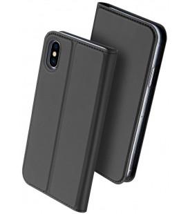 """Juodas atverčiamas dėklas Apple iPhone X / XS telefonui """"Dux Ducis Skin Pro"""""""