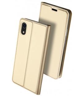 """Auksinės spalvos atverčiamas dėklas Apple iPhone XR telefonui """"Dux Ducis Skin Pro"""""""