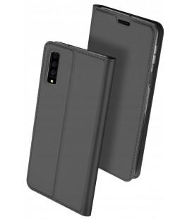 """Juodas atverčiamas dėklas Samsung Galaxy A7 2018 telefonui """"Dux Ducis Skin Pro"""""""