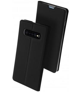 """Juodas atverčiamas dėklas Samsung Galaxy S10 Plus telefonui """"Dux Ducis Skin Pro"""""""
