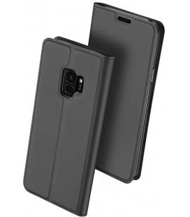 """Juodas atverčiamas dėklas Samsung Galaxy S9 telefonui """"Dux Ducis Skin Pro"""""""