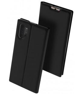 """Juodas atverčiamas dėklas Samsung Galaxy Note 10 Plus telefonui """"Dux Ducis Skin Pro"""""""