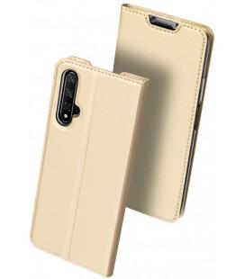 """Auksinės spalvos atverčiamas dėklas Huawei Honor 20 telefonui """"Dux Ducis Skin Pro"""""""